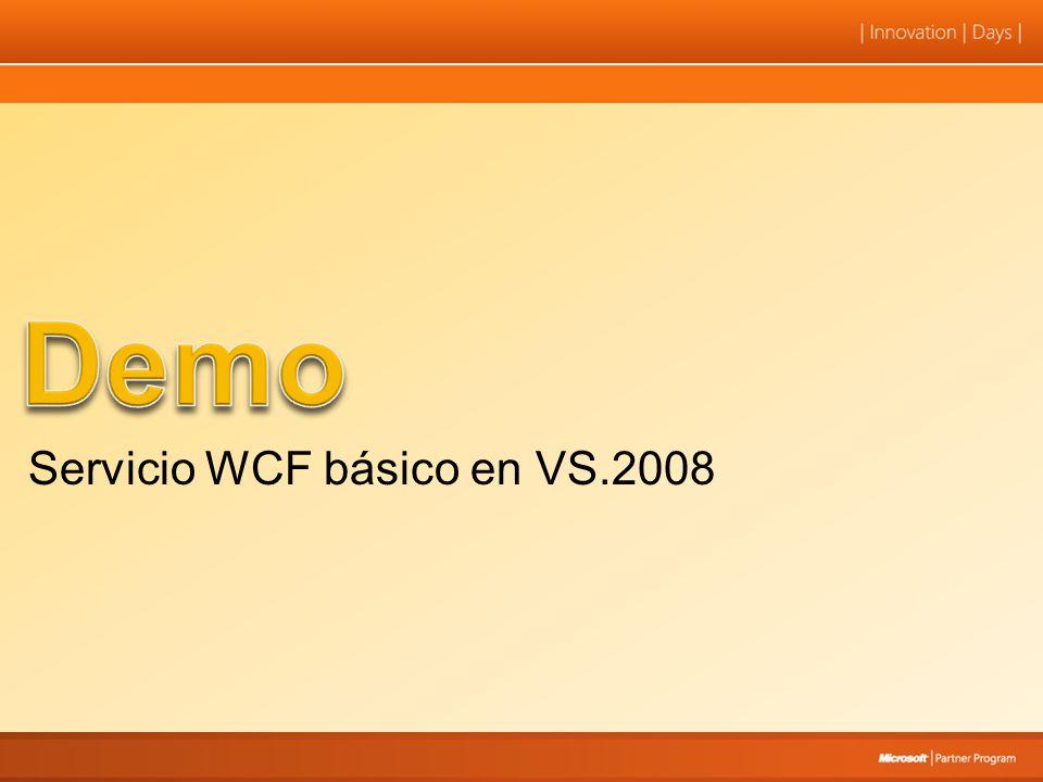 REST es la base para: –Servicios WCF-JSON para AJAX –WCF Syndication para RSS –Otras tipologías estándares en Internet
