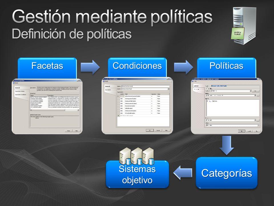 CategoríasCategorías Sistemas objetivo FacetasFacetasCondicionesCondicionesPolíticasPolíticas