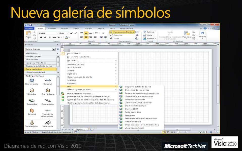 Nueva galería de símbolos Diagramas de red con Visio 2010
