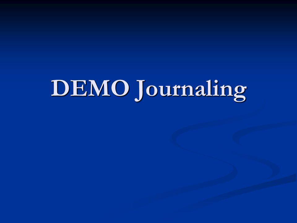 DEMO Journaling