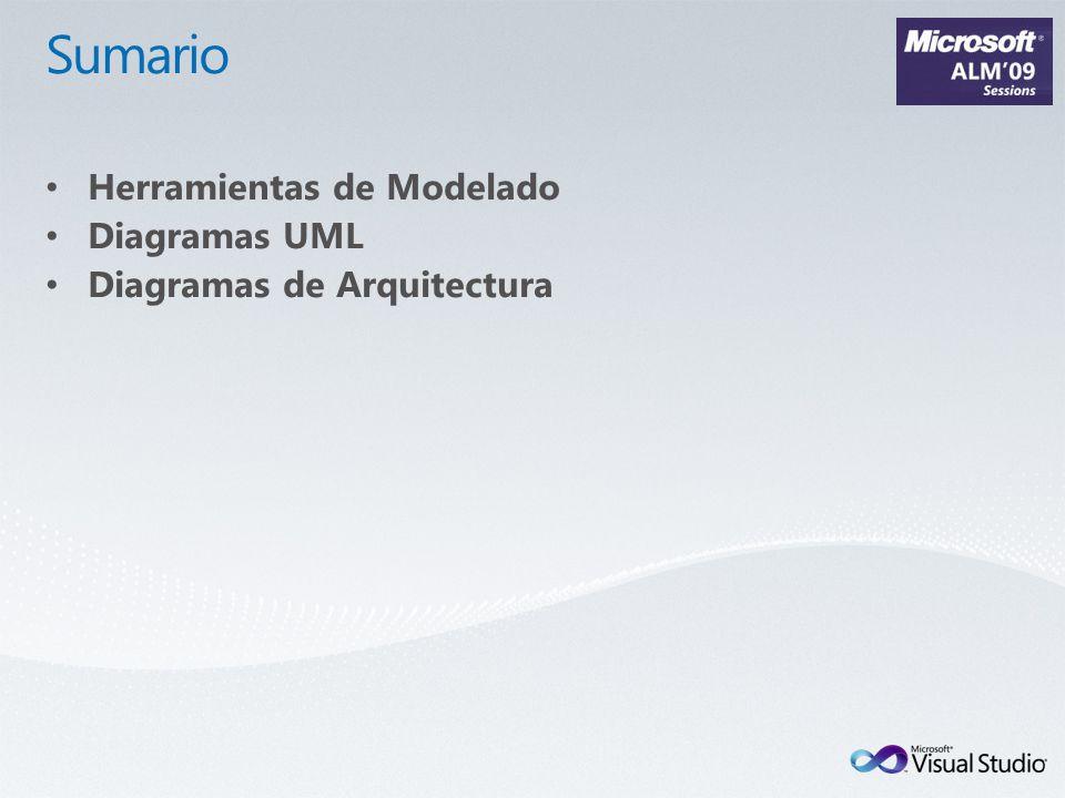 Soporte UML Diagramas UML 2.1 Diseño lógico Arquitectura N-Capas Diagrama LAYER Arquitectura Visualización Validación Exploración de código existente Architecture Explorer Diversas vistas y opciones Muy potente y extensible