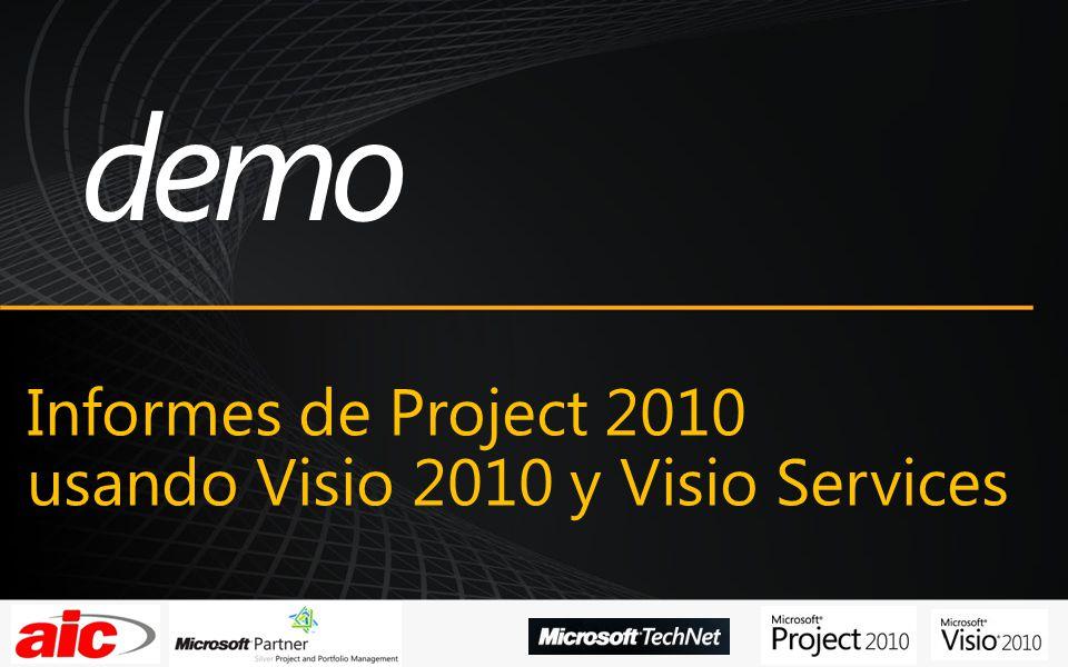 Informes de Project 2010 usando Visio 2010 y Visio Services