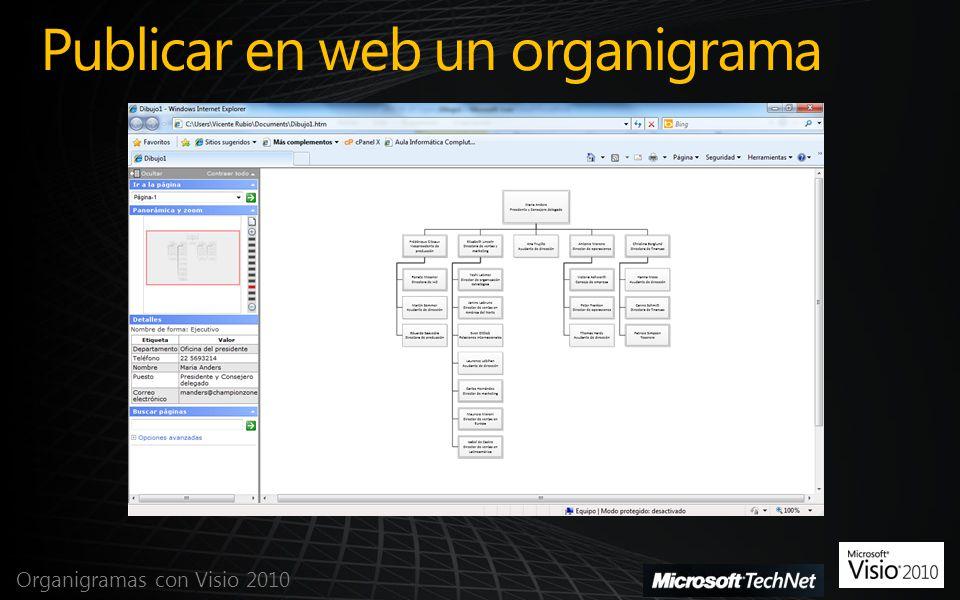 Publicar en web un organigrama Organigramas con Visio 2010