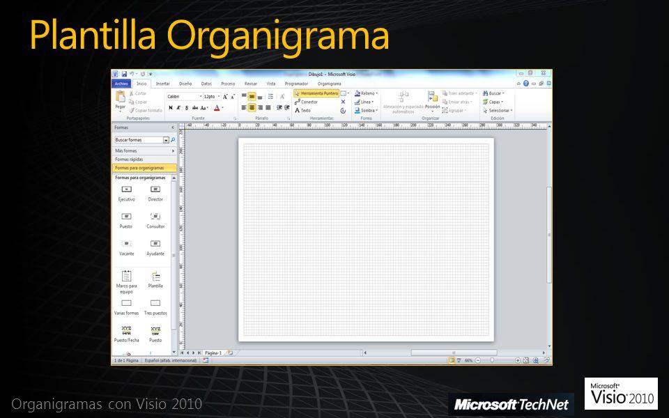 Plantilla Organigrama Organigramas con Visio 2010
