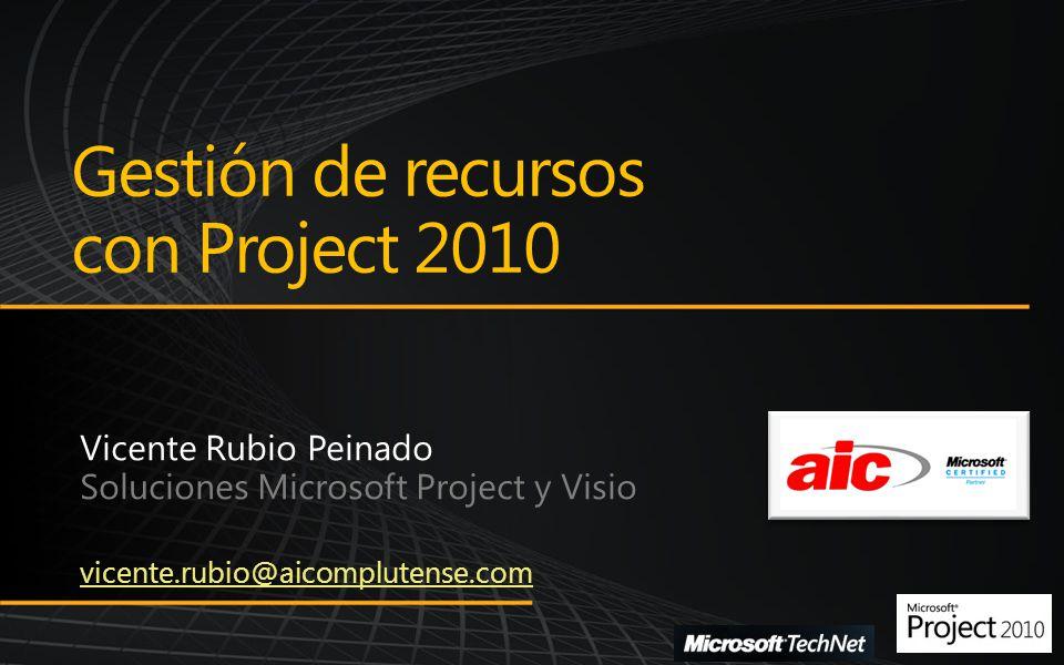 Gestión de recursos con Project 2010