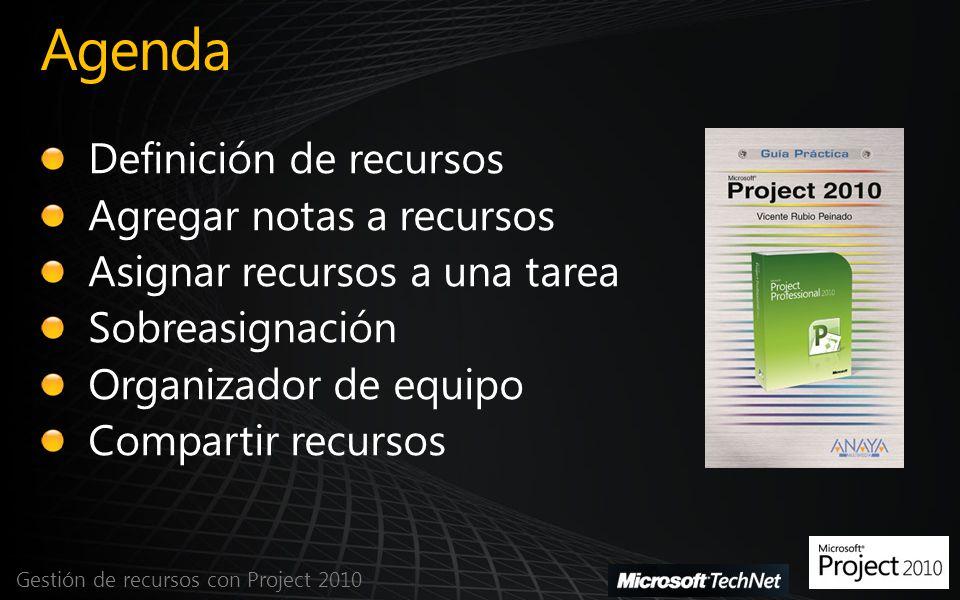 Agenda Gestión de recursos con Project 2010