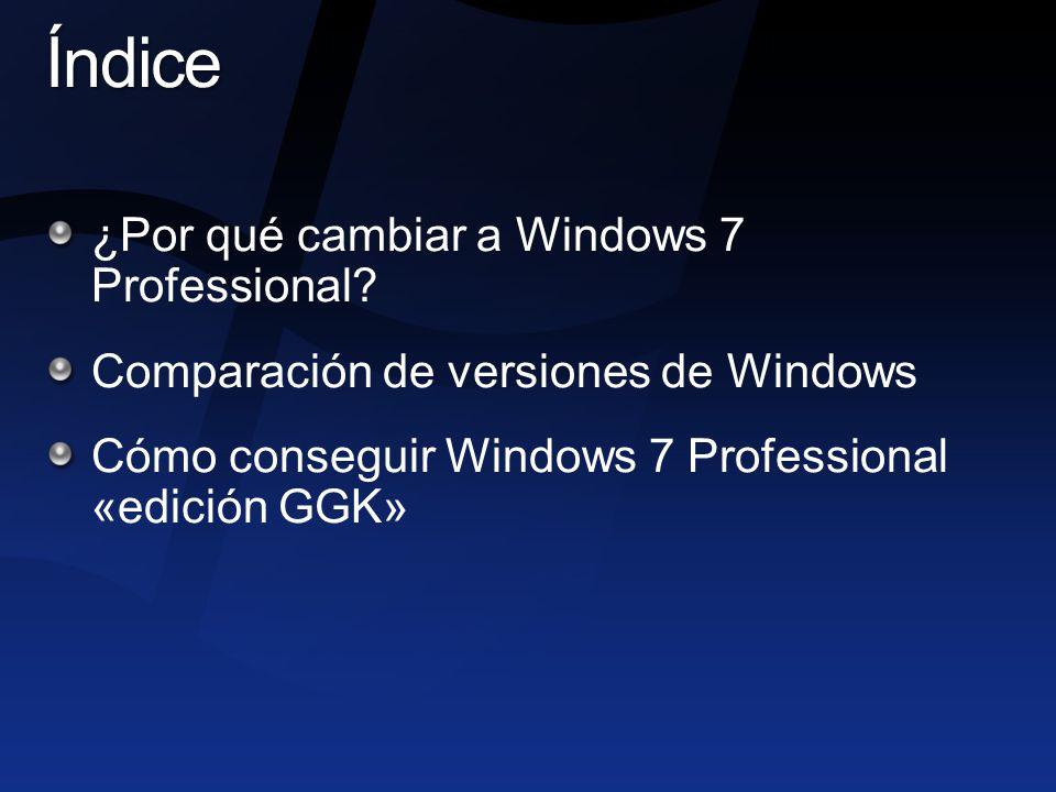 ¿Por qué cambiar a Windows 7 Professional.
