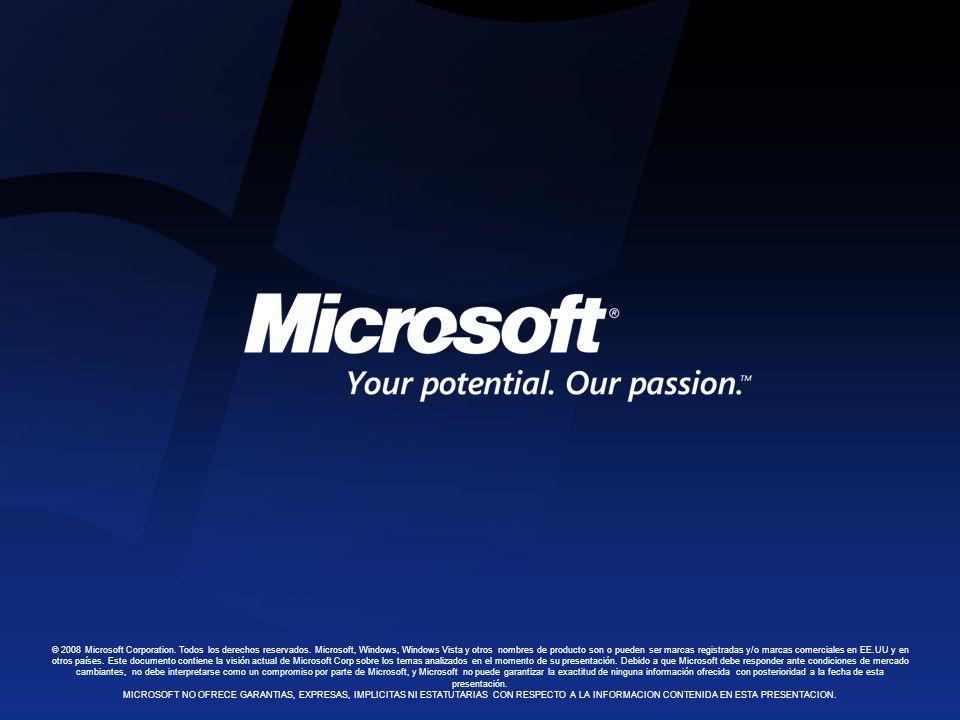 © 2008 Microsoft Corporation. Todos los derechos reservados.
