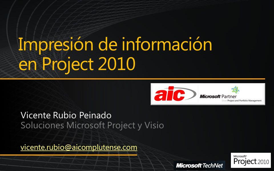 Impresión de información en Project 2010