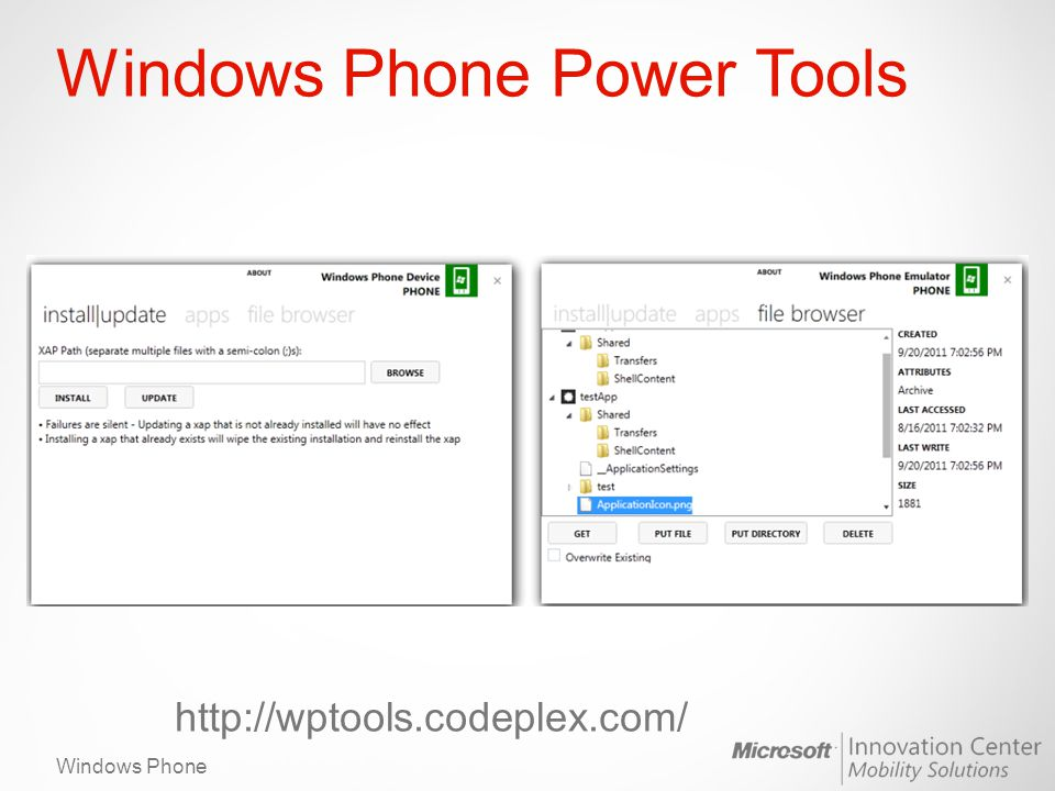 Windows Phone Windows Phone Power Tools http://wptools.codeplex.com/