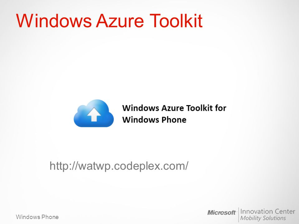 Windows Phone Windows Azure Toolkit http://watwp.codeplex.com/