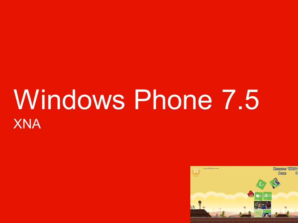 Windows Phone 7.5 XNA