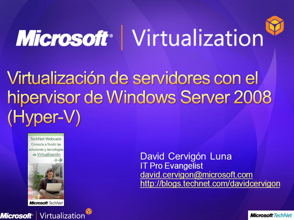 TechCenter de Windows Server 2008 http://www.microsoft.com/spain/technet/prodtechnol/windowsserver/2008/defa ult.mspx Próximos Webcasts en vivo http://www.microsoft.com/spain/technet/jornadas/default.mspx Webcasts grabados http://www.microsoft.com/spain/technet/jornadas/webcasts/webcasts_ant.aspx Foros técnicos http://forums.microsoft.com/technet-es/default.aspx?siteid=30 Registrarse a la newsletter TechNet Flash http://www.microsoft.com/spain/technet/boletines/default.mspx Obtenga una Suscripción TechNet Plus http://technet.microsoft.com/es-es/subscriptions/default.aspx