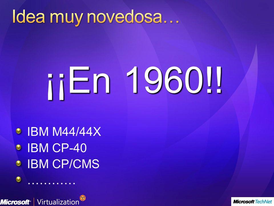 IBM M44/44X IBM CP-40 IBM CP/CMS ………… ¡¡En 1960!!