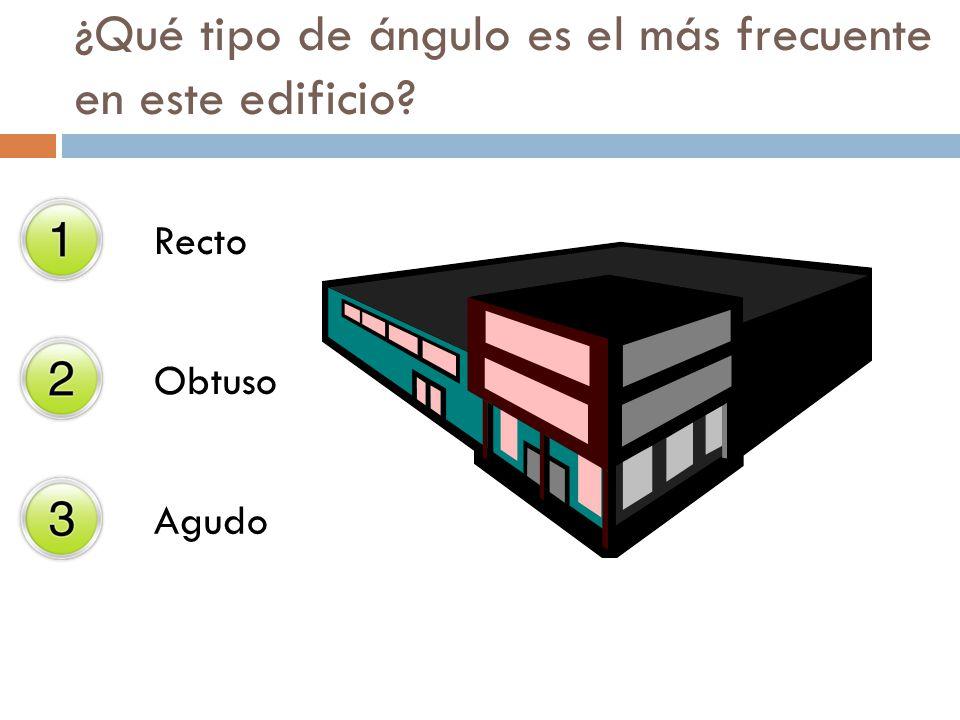 Recto Obtuso Agudo ¿Qué tipo de ángulo es el más frecuente en este edificio?