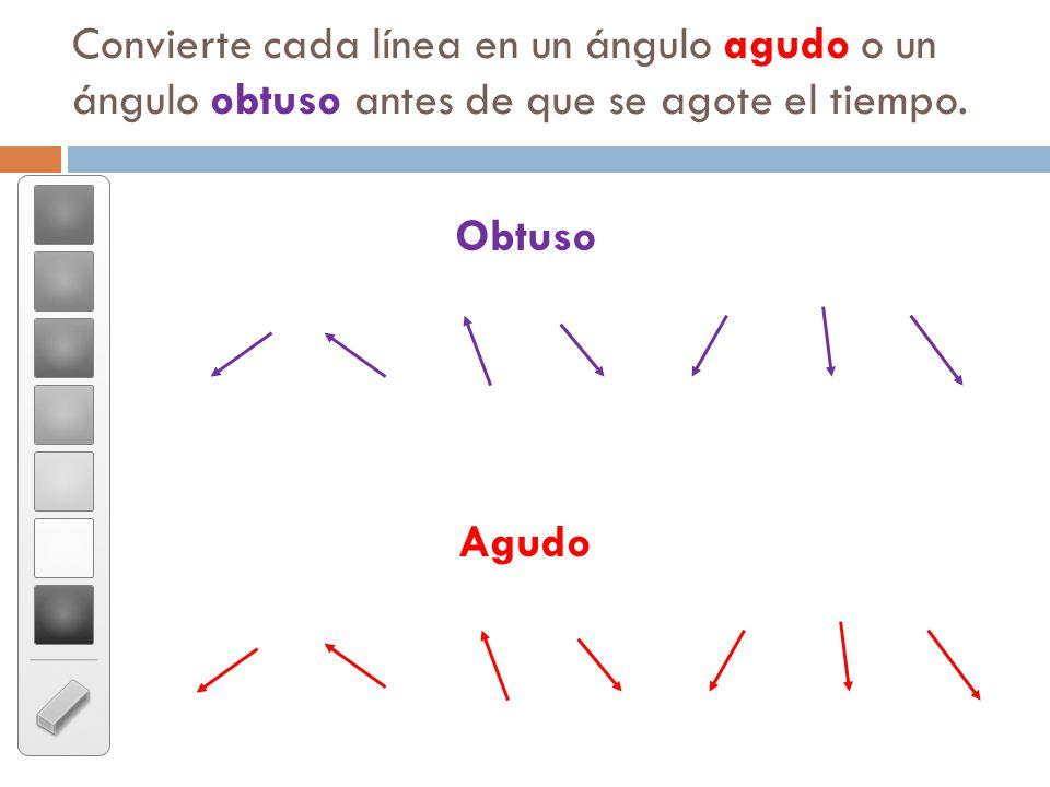 Angulo Obtuso y Agudo Agudo o un Ngulo Obtuso