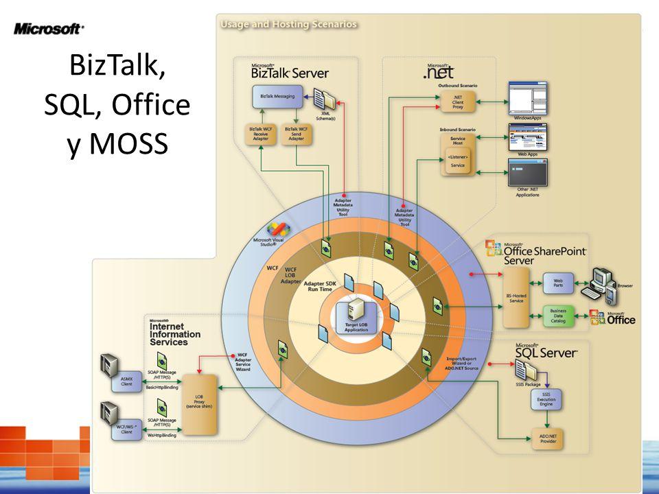BizTalk, SQL, Office y MOSS