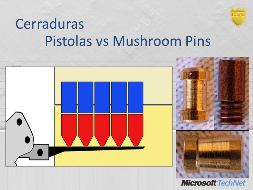 Cerraduras Pistolas vs Mushroom Pins