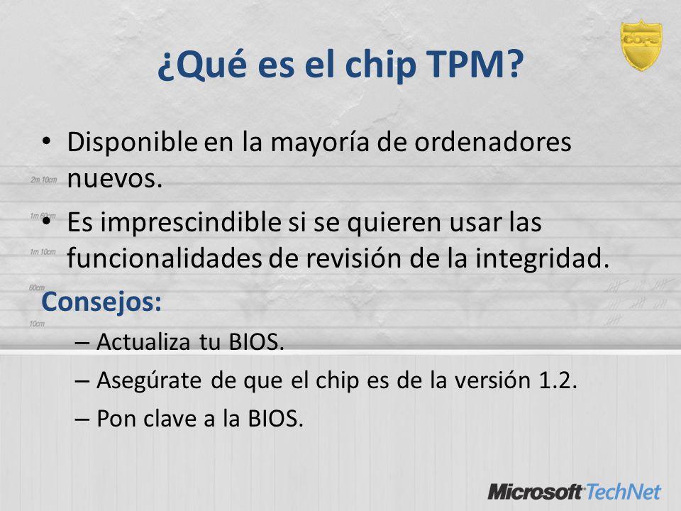 ¿Qué es el chip TPM? Disponible en la mayoría de ordenadores nuevos. Es imprescindible si se quieren usar las funcionalidades de revisión de la integr