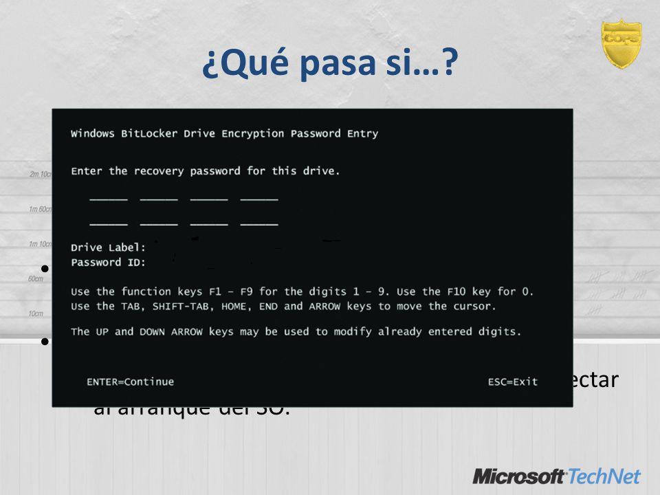 ¿Qué pasa si…? – Se me rompe la placa madre. – Tengo que actualizar la BIOS, firmware, etc. – Tengo que cambiar el disco de ordenador. – Se me olvida