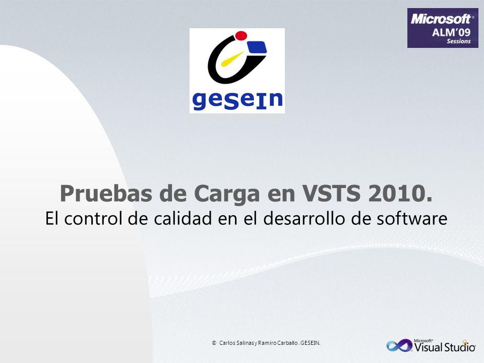 Pruebas de Carga en VSTS 2010.