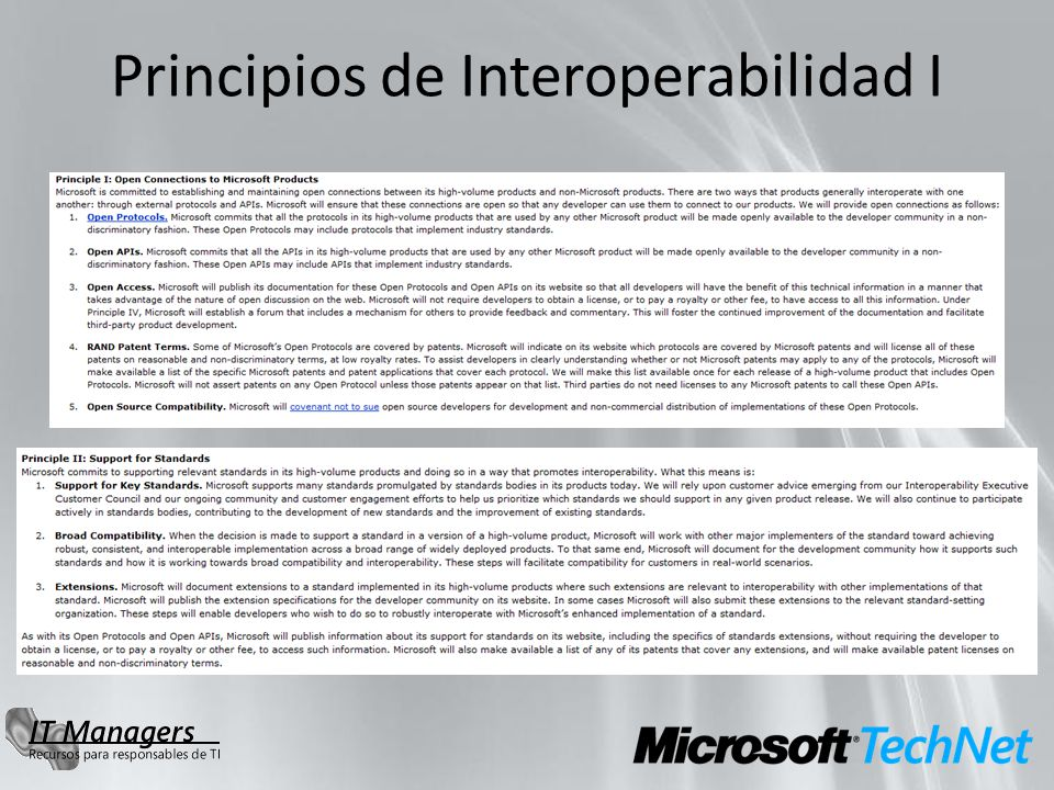 Principios de Interoperabilidad I
