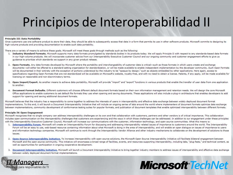 Principios de Interoperabilidad II