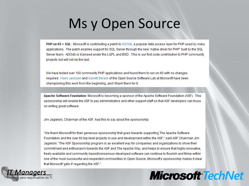 Ms y Open Source