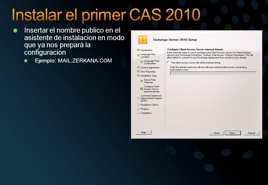 Insertar el nombre publico en el asistente de instalacion en modo que ya nos preparà la configuracion Ejemplo: MAIL.ZERKANA.COM