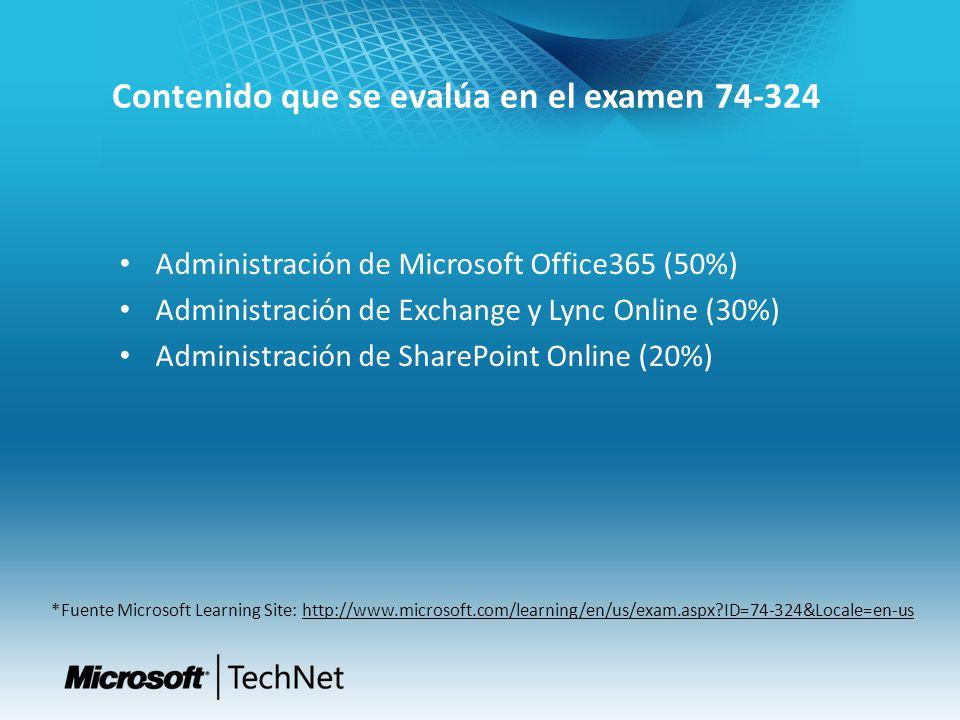 Conocimientos recomendados que se deben poseer Active Directory Exchange Server Sharepoint Server Microsoft Office (especialmente Outlook) Internet Explorer Dispositivos móviles Windows Powershell 2.0 o superior Gestión de dominios.com (a nivel de DNS) Gestión de cortafuegos Conexiones WAN y LAN