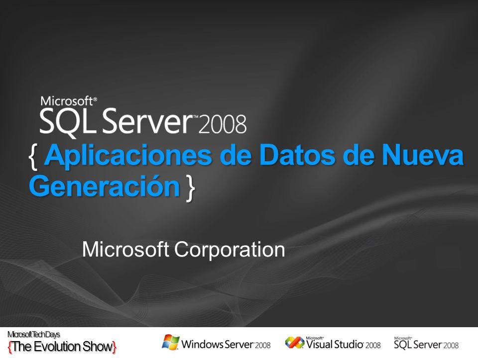 { Aplicaciones de Datos de Nueva Generación } Microsoft Corporation