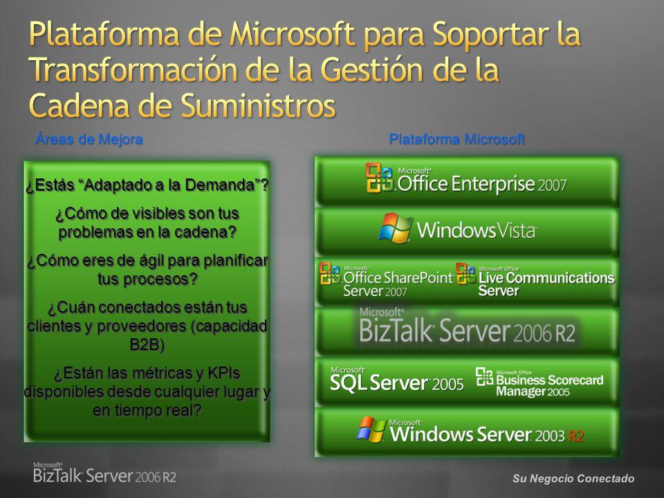 Plataforma Microsoft Áreas de Mejora ¿Estás Adaptado a la Demanda.
