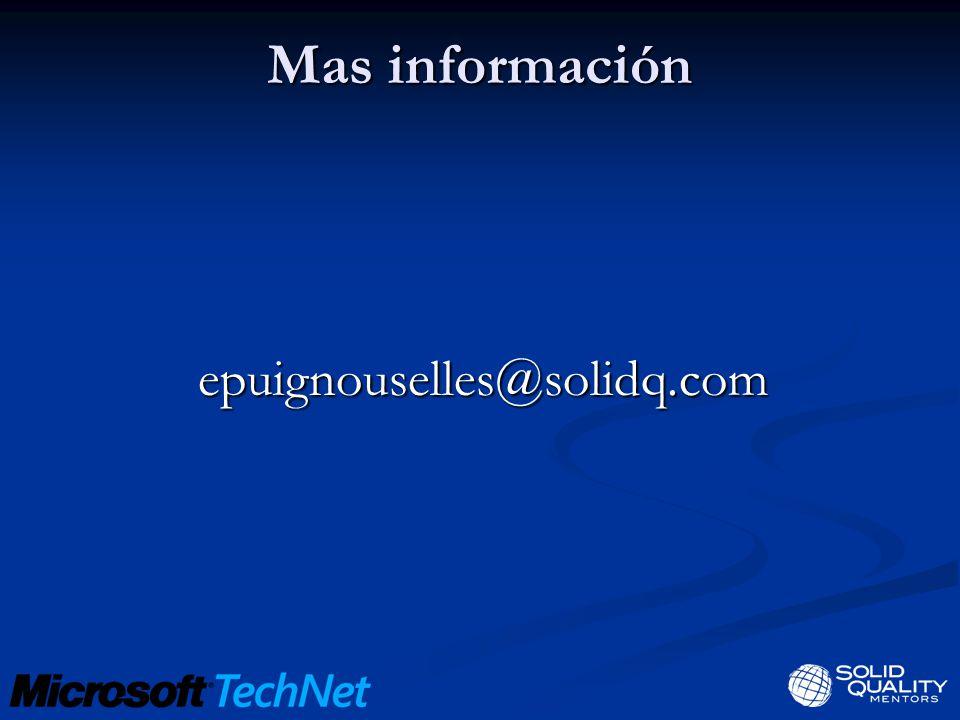 Mas información epuignouselles@solidq.com