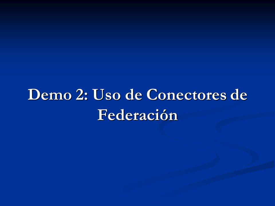 Demo 2: Uso de Conectores de Federación