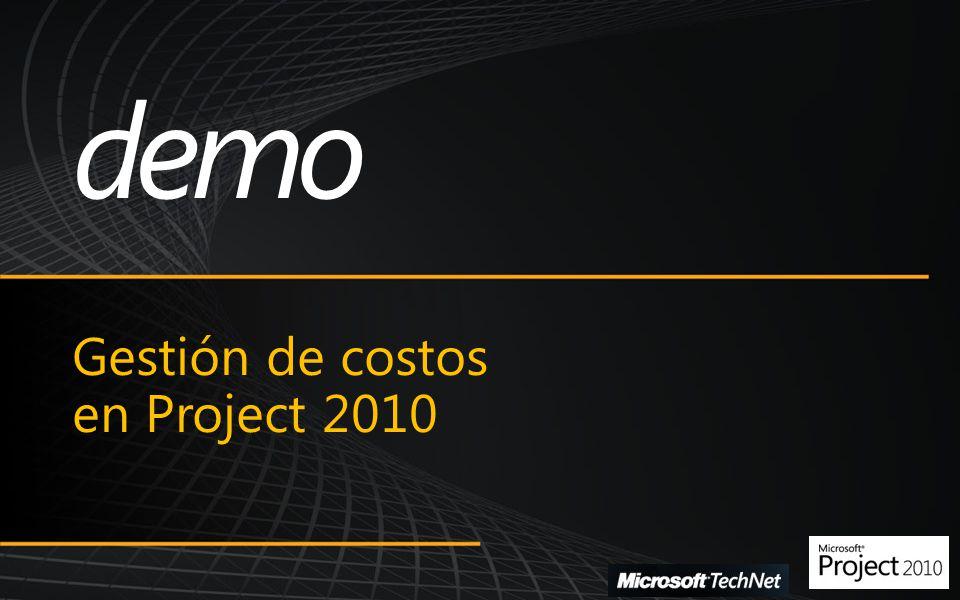 Gestión de costos en Project 2010