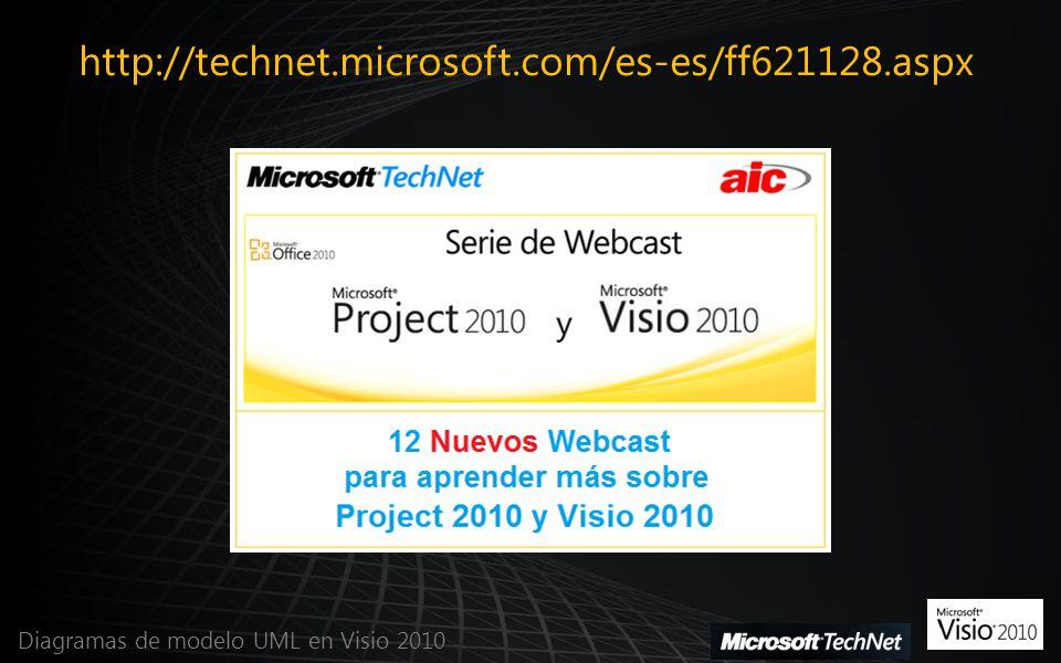 http://technet.microsoft.com/es-es/ff621128.aspx Diagramas de modelo UML en Visio 2010