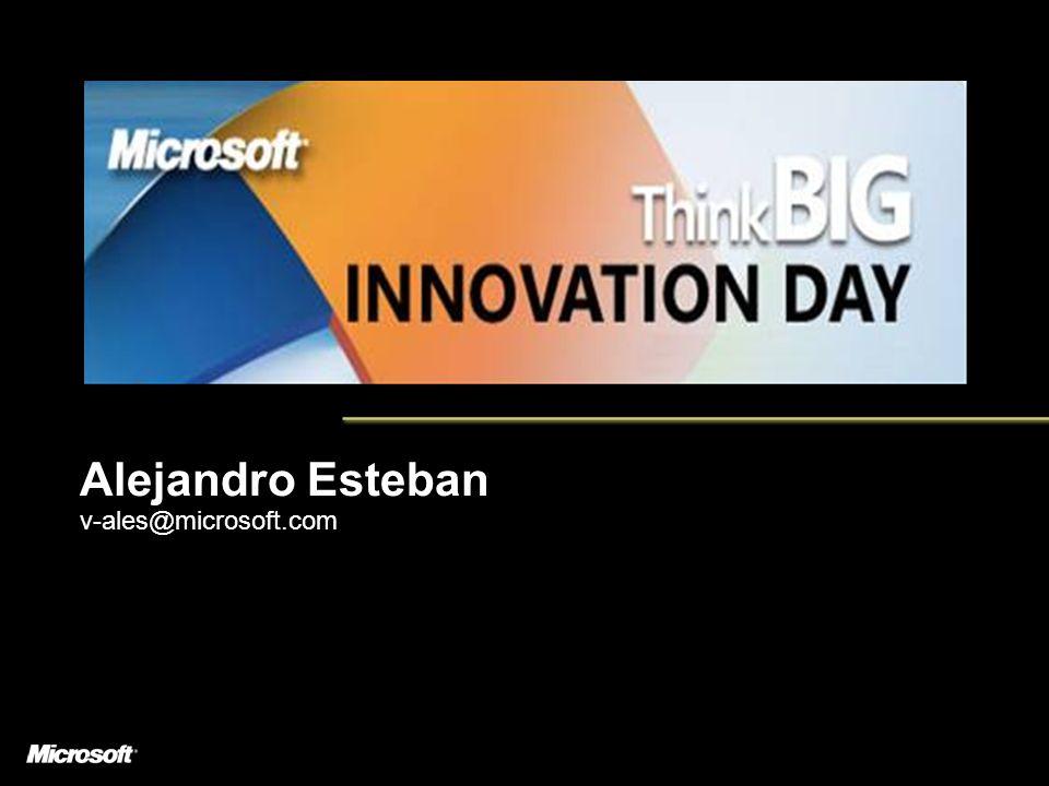 Alejandro Esteban v-ales@microsoft.com