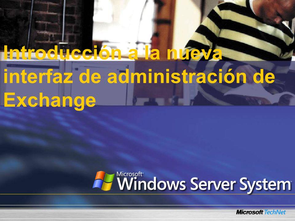 Introducción a la nueva interfaz de administración de Exchange