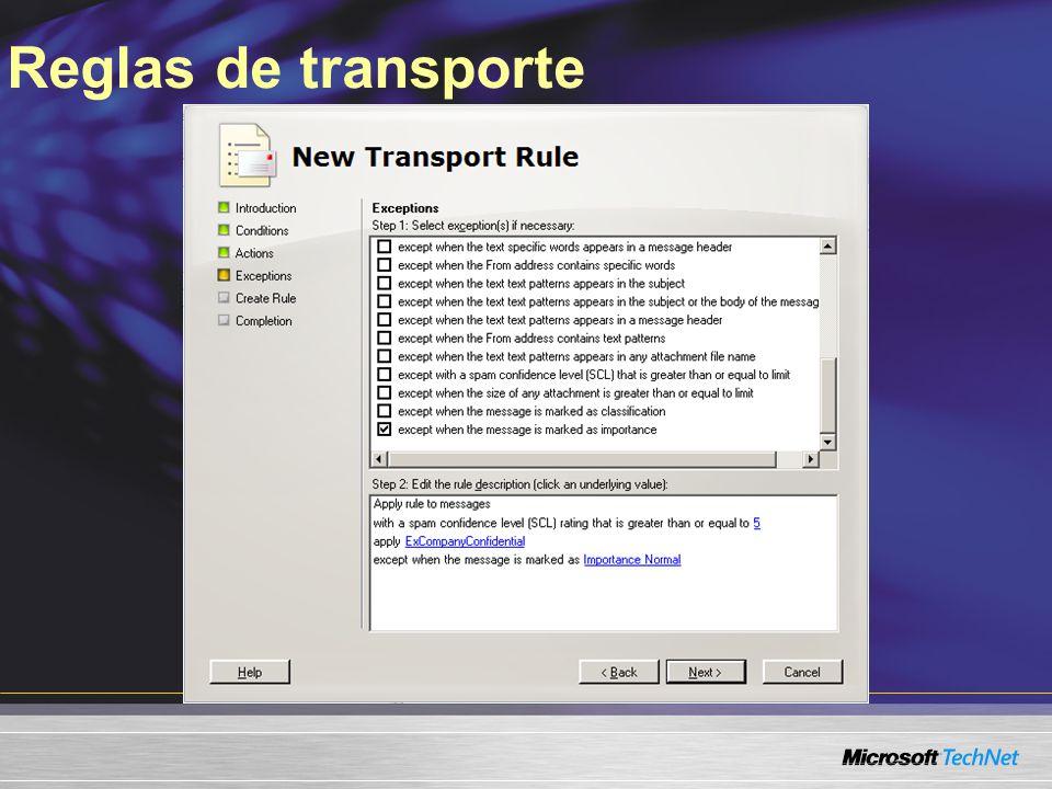 Reglas de transporte