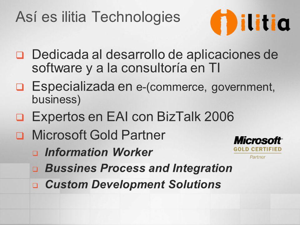 Así es ilitia Technologies Dedicada al desarrollo de aplicaciones de software y a la consultoría en TI Especializada en e-(commerce, government, busin