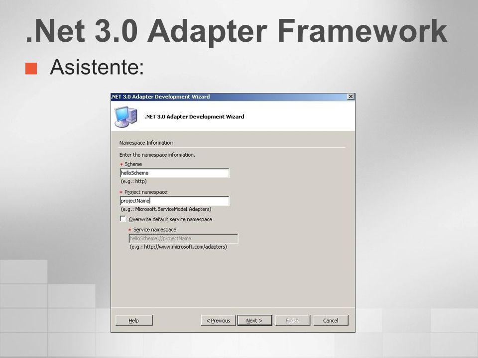 .Net 3.0 Adapter Framework Asistente: