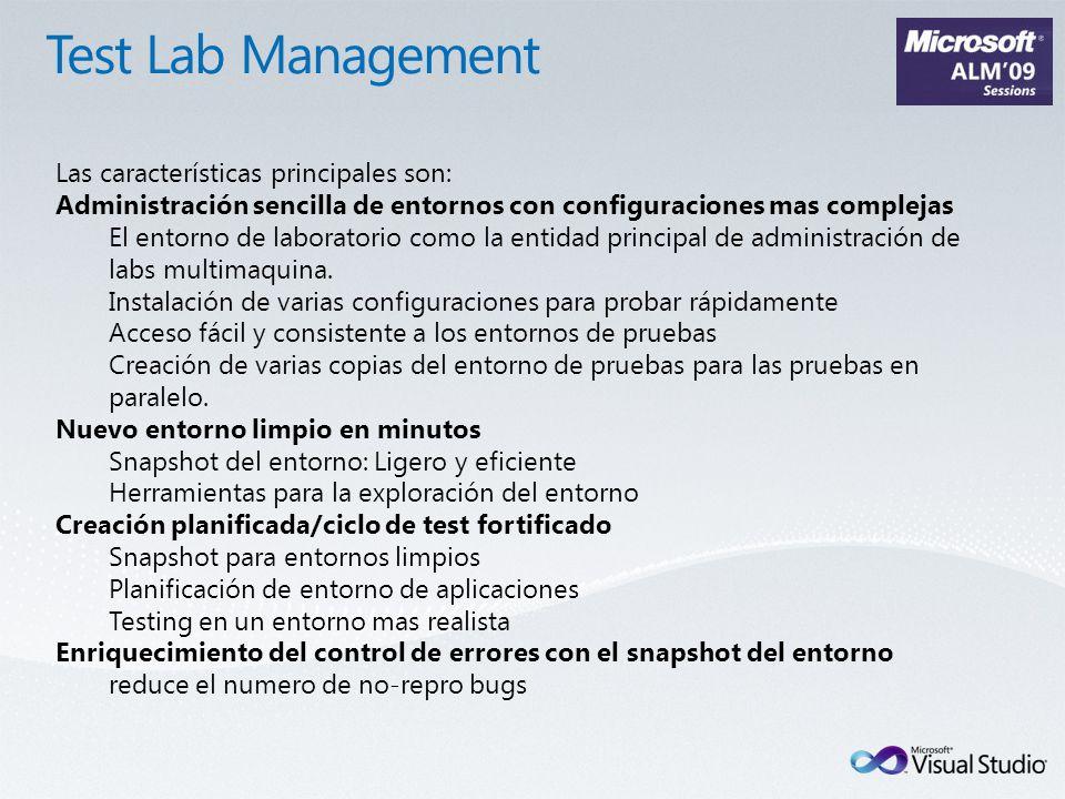 Las características principales son: Administración sencilla de entornos con configuraciones mas complejas El entorno de laboratorio como la entidad principal de administración de labs multimaquina.