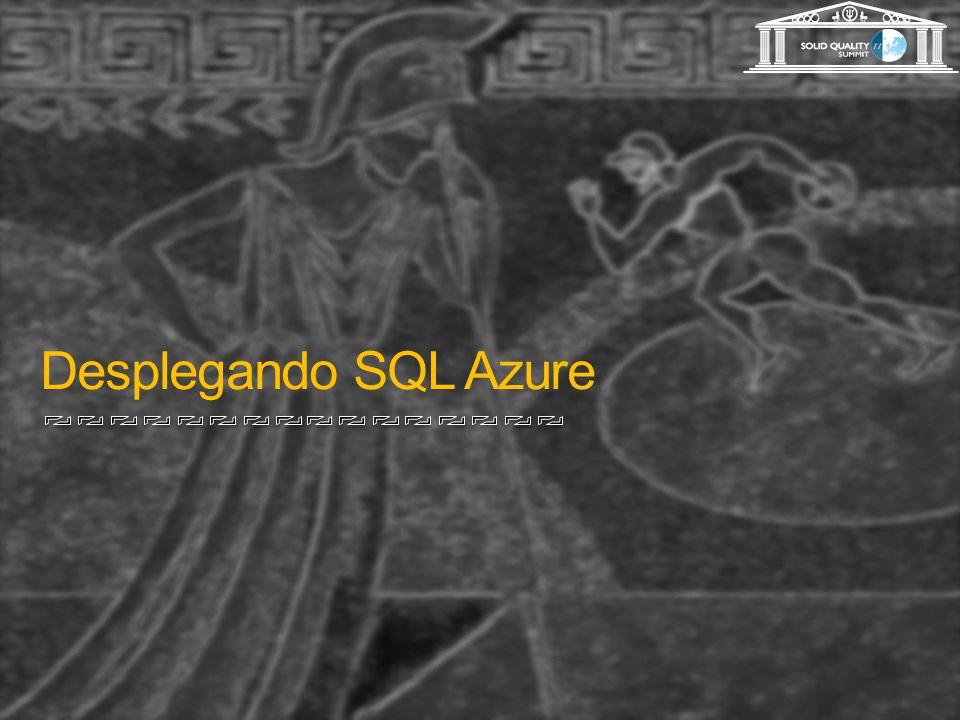 Desplegando SQL Azure