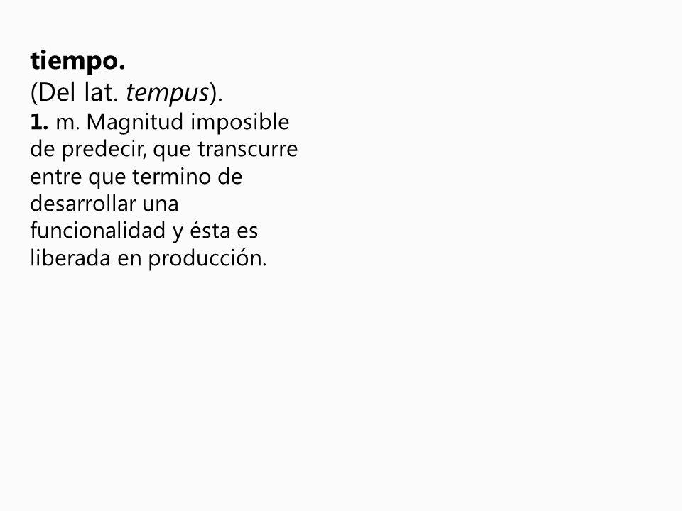 tiempo. (Del lat. tempus). 1. m.