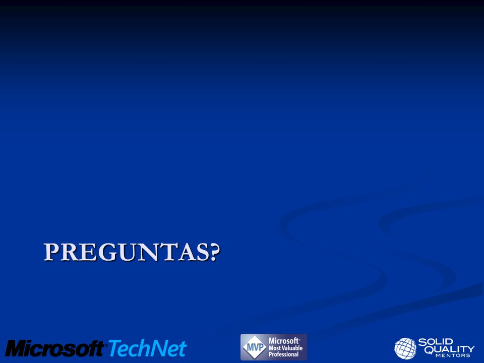 Serie de webcasts WebcastSpeakerFecha Data Access, Modeling & the DeveloperSergio CarrilloEnero 19 Project OsloSergio CarrilloEnero 21 SQL Server Data ServicesEnrique PuigEnero 26 Application & Multi-Server ManagementRuben PertusaEnero 28 Entity Framework from the DBA s eyesEnrique PuigFebrero 4 PowerPivot : Client ExperienceAlejandro Leguizamo (SQL Server MVP)Febrero 9 PowerPivot : SharePoint IT ExperienceJosé QuintoFebrero 11 PowerPivot : Data Analysis ExpressionsIldefonso MasFebrero 24 Reporting Services : Report Builder Server Mode EnhancementsCarlos MartinezMarzo 2 Reporting Services : Component Library OverviewAlejandro Leguizamo (SQL Server MVP)Marzo 9 Reporting Services : Map OverviewAlejandro Leguizamo (SQL Server MVP)Marzo 11 Regístrate en http://technet.microsoft.com/es-es/ee126078.aspxhttp://technet.microsoft.com/es-es/ee126078.aspx