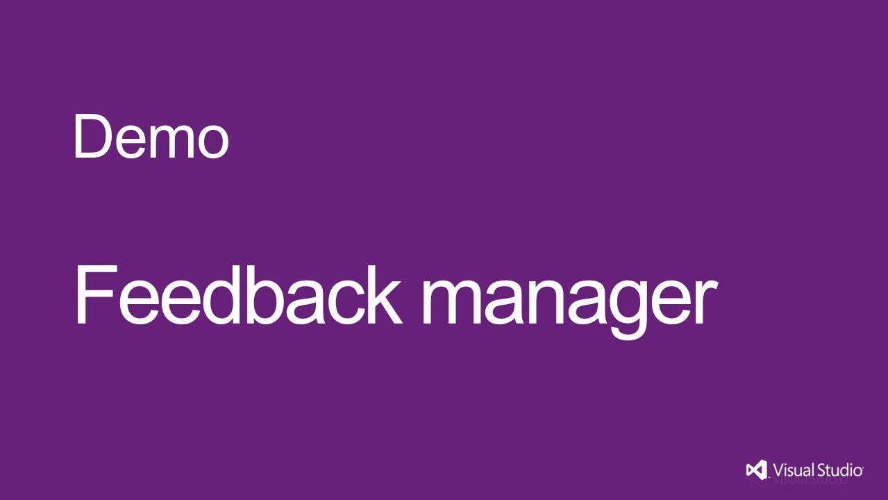 Feedback manager Demo