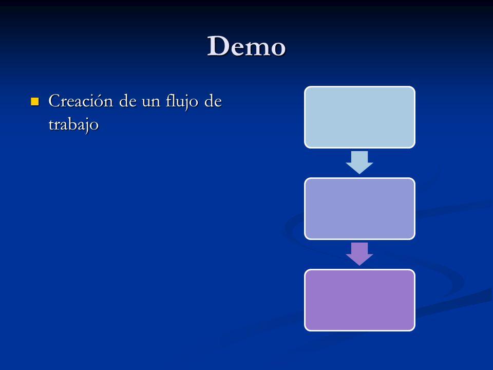 Demo Creación de un flujo de trabajo Creación de un flujo de trabajo