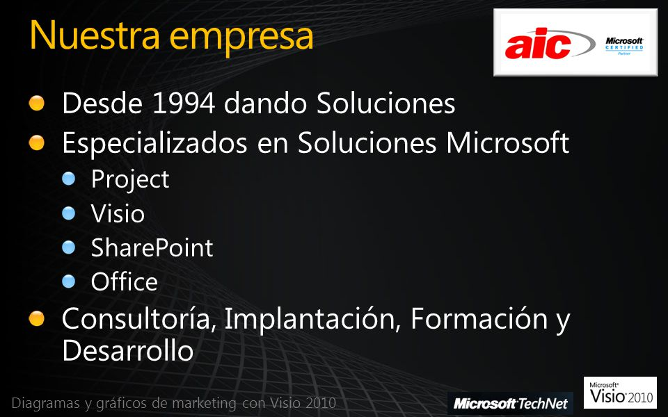 Diagramas y gráficos de marketing con Visio 2010