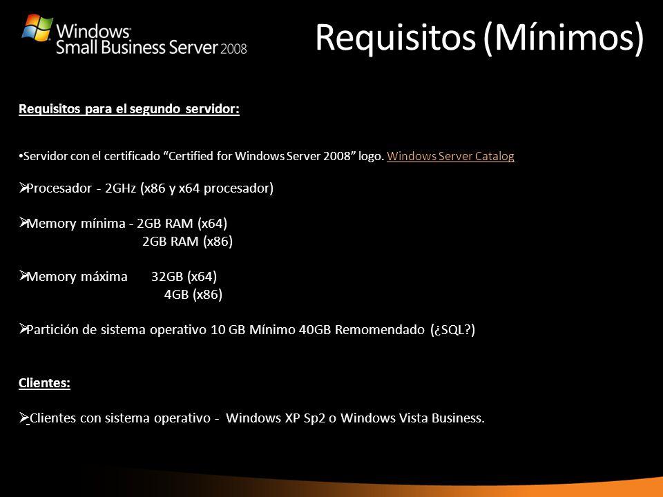 Requisitos (Mínimos) the Internet Address Management Wizard to purchase a new one. Requisitos para el segundo servidor: Servidor con el certificado Ce