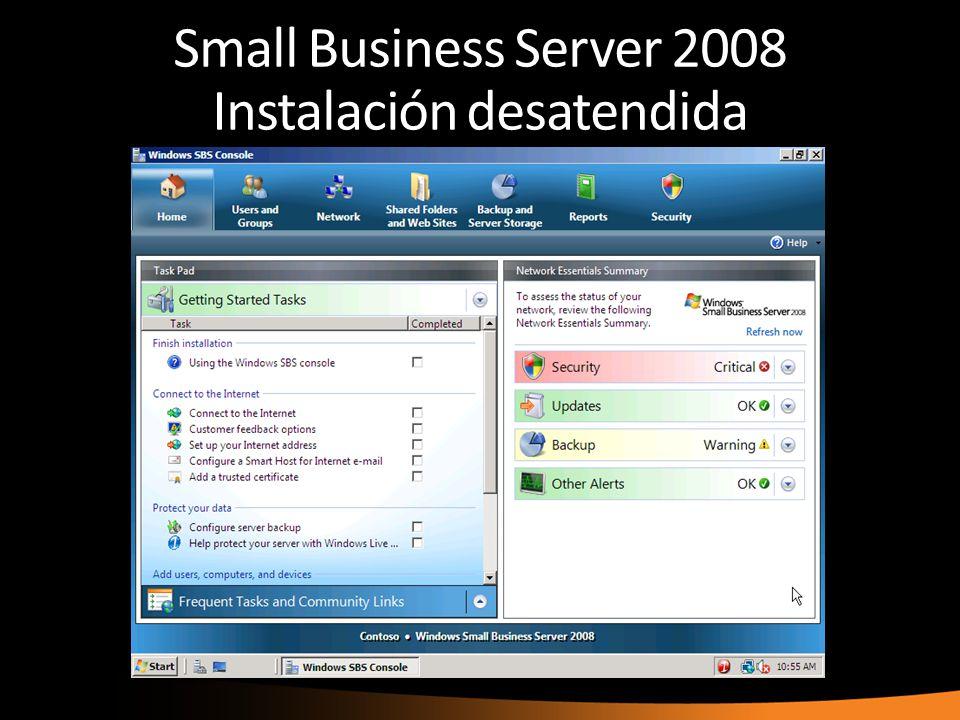 Small Business Server 2008 Instalación desatendida
